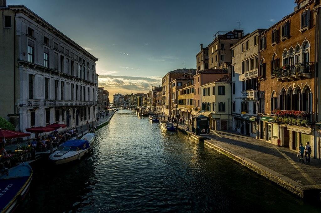 scenic canal in venice