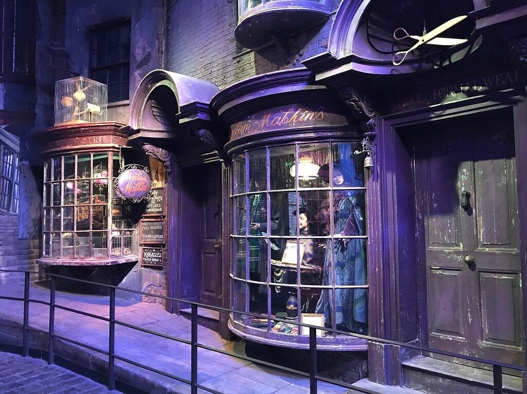 diagon alley at harry potter studios outside London