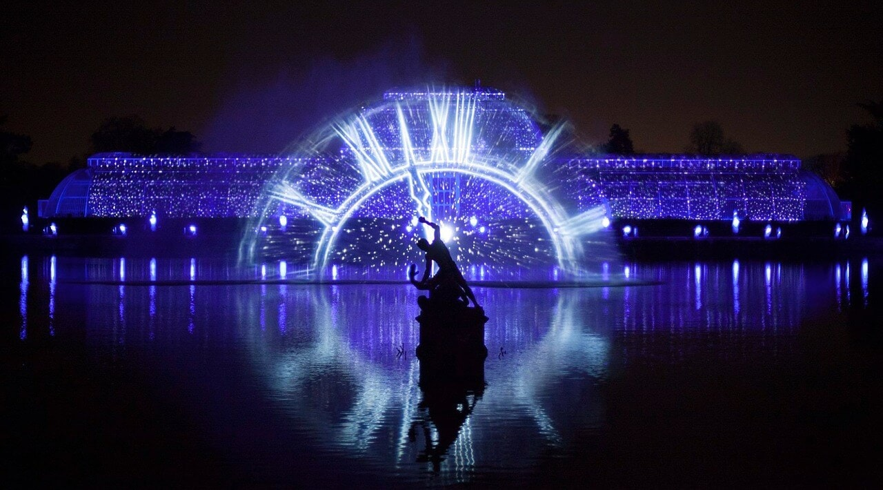 kew gardens has some impressive illuminations during the holiday season