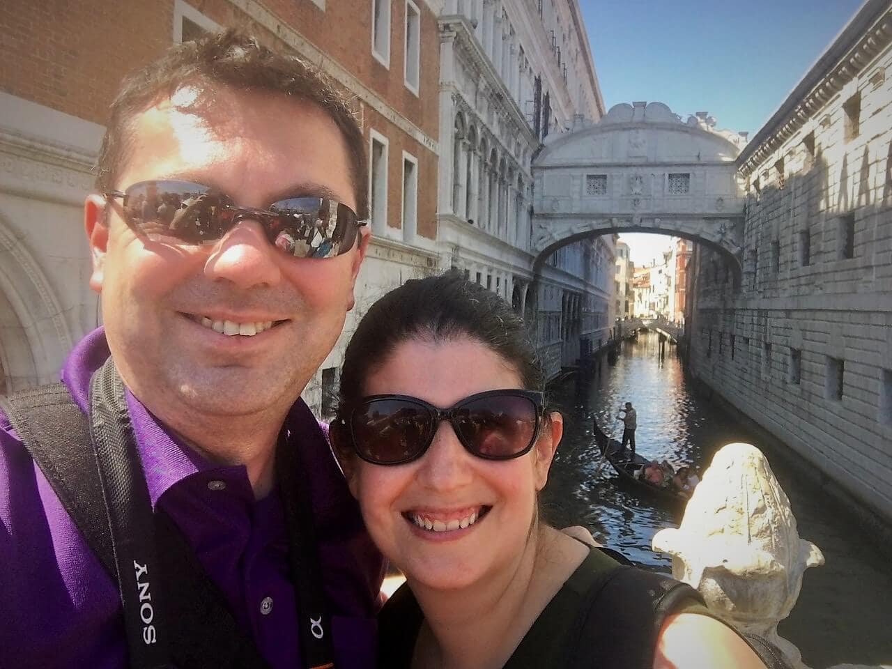 russell and anisa in venice