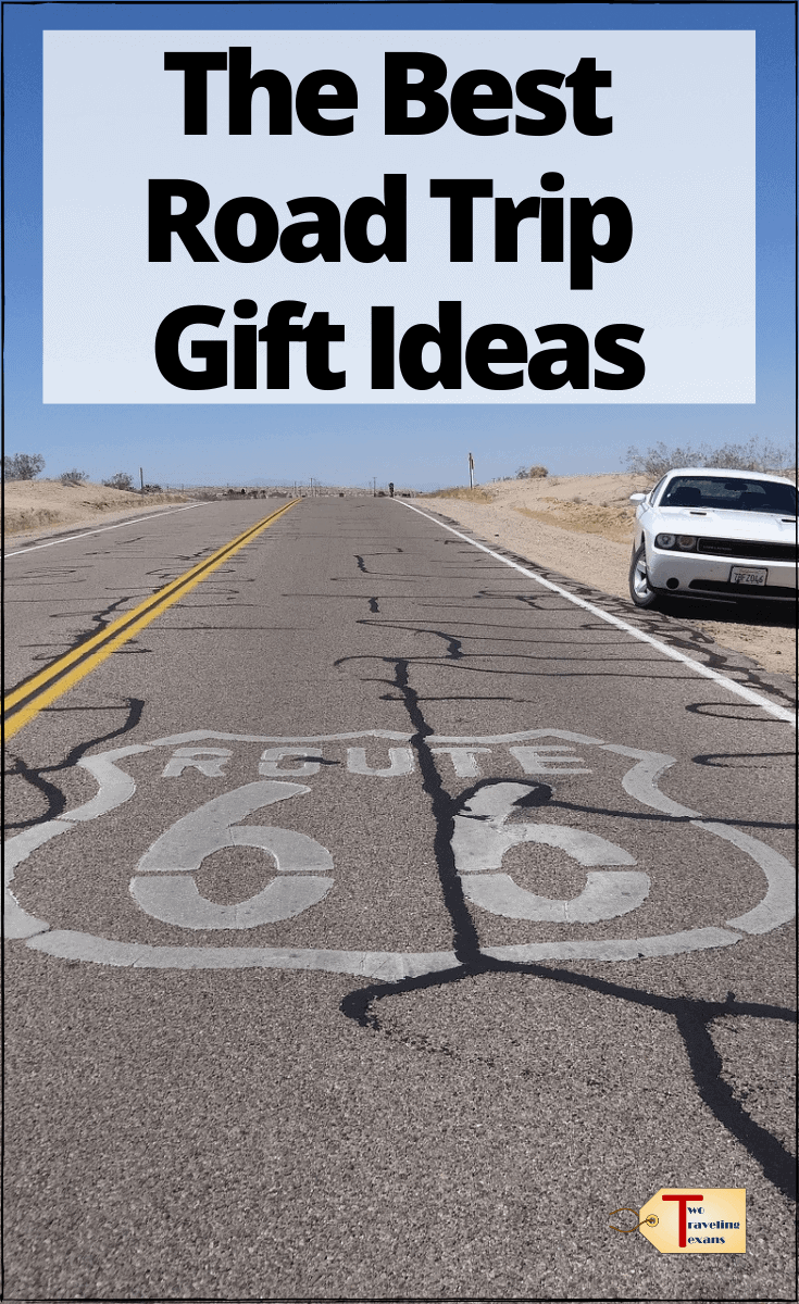 "highway 66 with text overlay "" the best road trip gift ideas"""