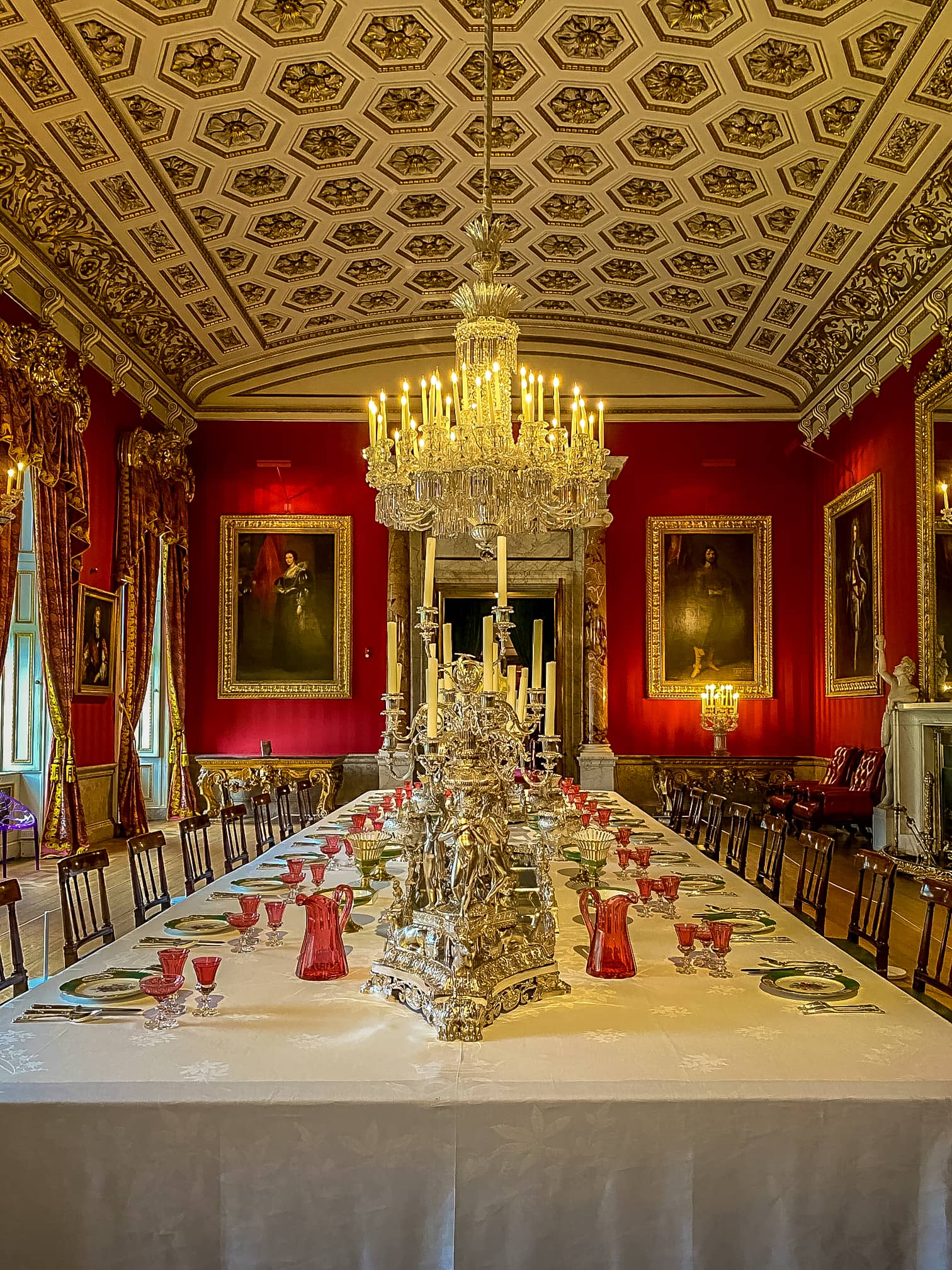 dining room at Chatsworth House