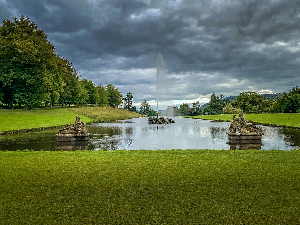 The view of the Gardens from Chatsworth House.