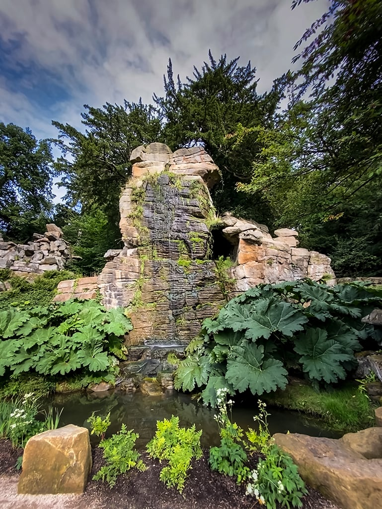 The Wellington Rock in the Rock Garden at Chatsworth House