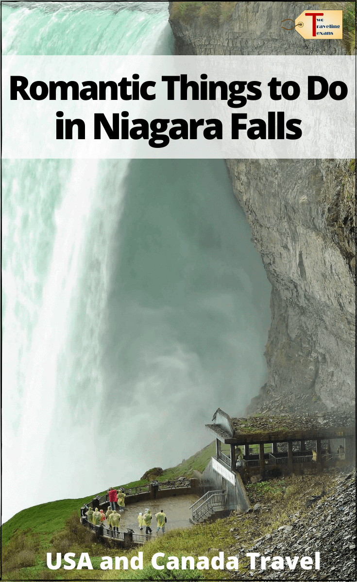 "canadian side of Niagara Falls with text overlay ""Romantic Things to Do In Niagara Falls - USA and Canada Travels"""