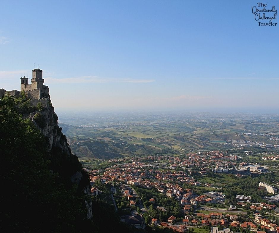 sweeping views from the tower in San Marino