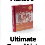 "picture of Lonely Planet's Ultimate Travel List 2nd edition book with text overlay ""Lonely Planet's Ultimate Travel List Book Review"""