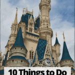 "disney world castle with text overlay ""10 things to do at disney world when it rains"""