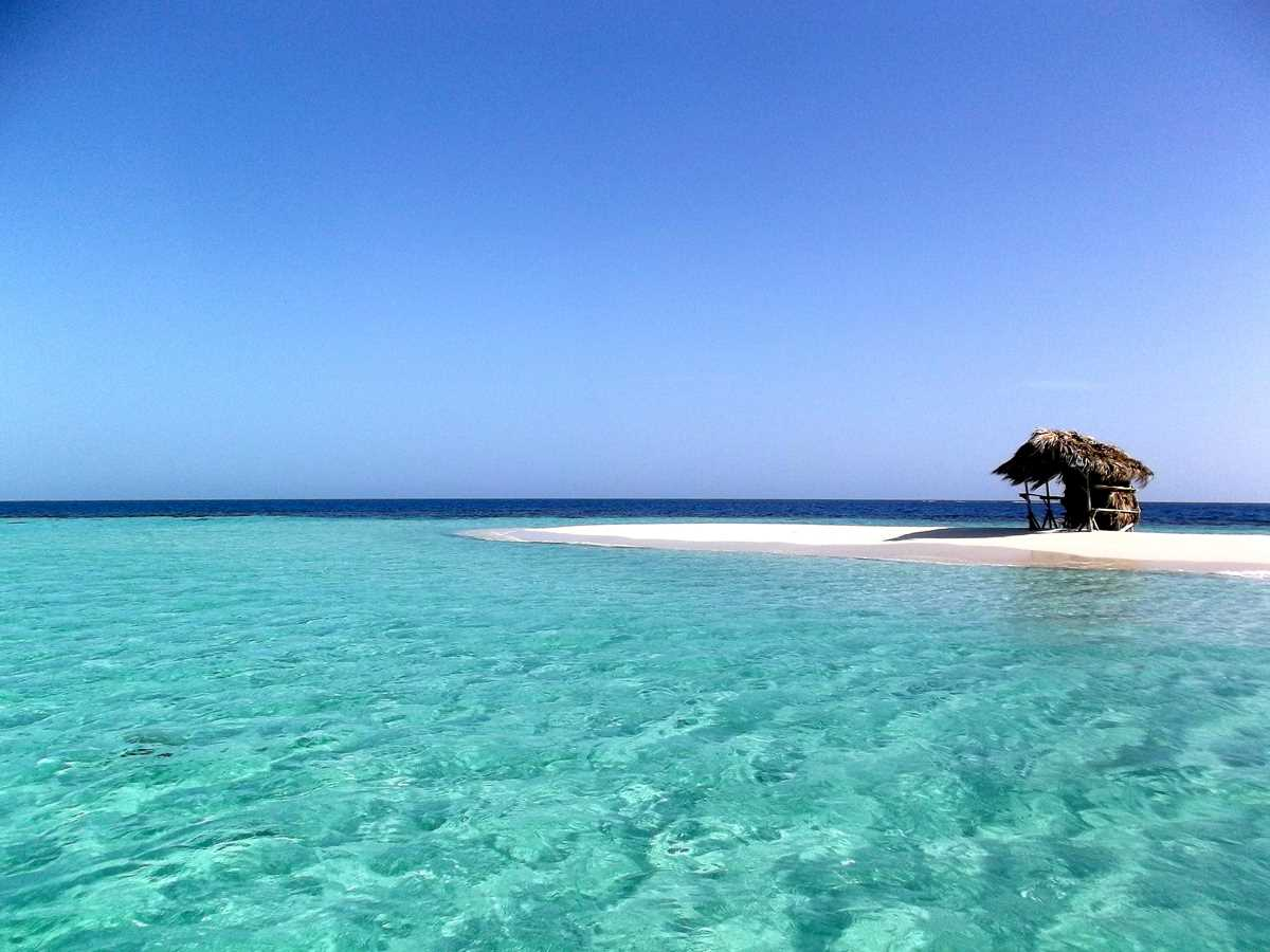 beach with clear water in the Dominican Republic