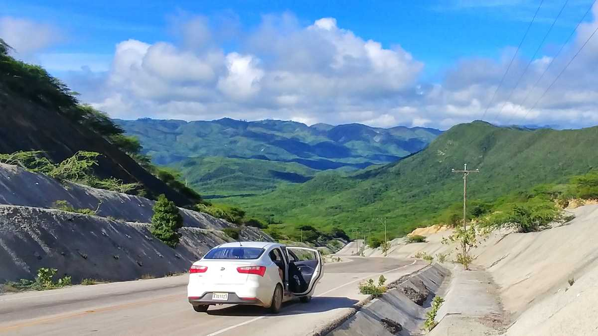 Dominican republic road with a view
