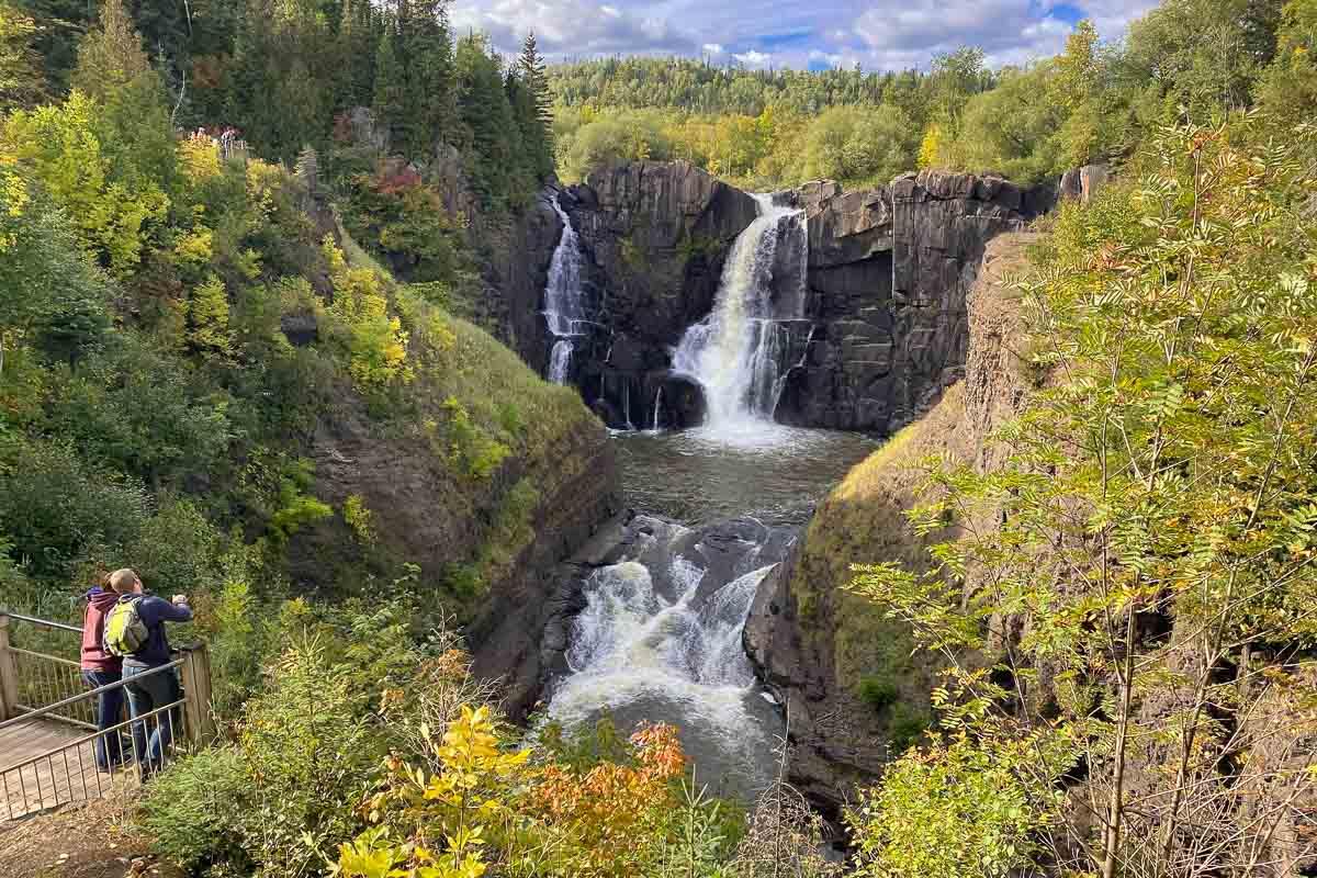 high falls in grand portage minnesota