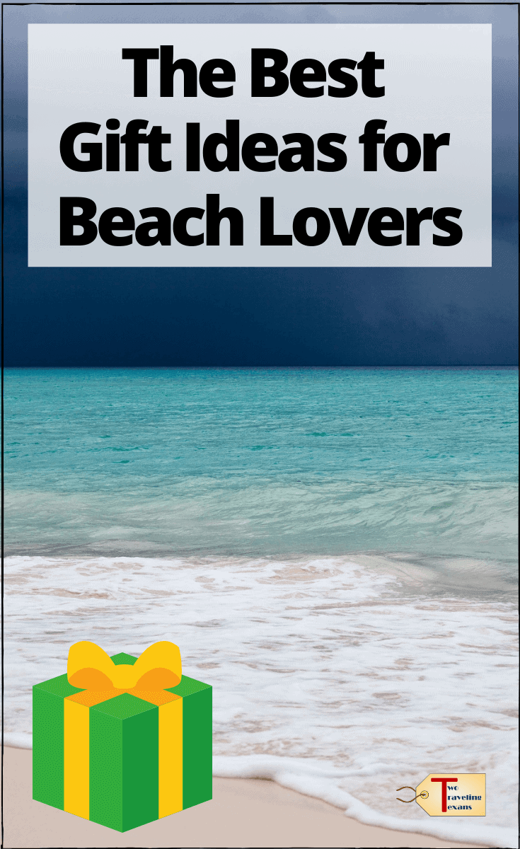 """beach scene with text overlay """" the best gift ideas for beach lovers"""""""