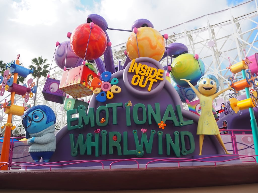 emotional whirlwind inside out ride at California adventure