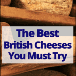 """lots of cheese with text overlay """"the best british cheese you must try"""""""