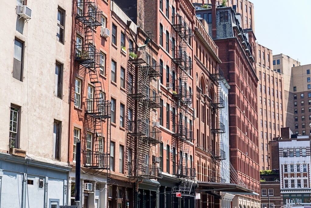 buildings in tribeca in NYC
