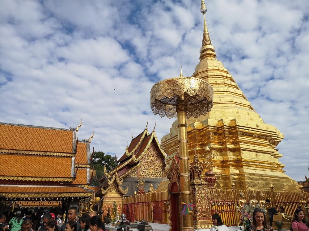 Doi Suthep Temple in Chiang Mai Thailand, a must during your 10 days in Thailand