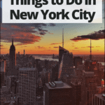 "nyc at sunset with text overlay ""20 romantic things to do in new york city"""