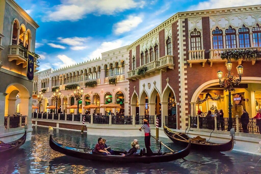 gondola ride inside the Venetian in Las Vegas