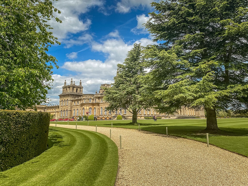 path in the formal gardens at Blenheim Palace