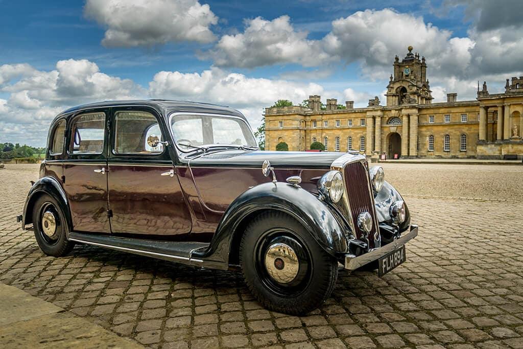 classic car at blenheim palace