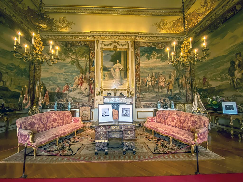 the first state room in Blenheim Palace