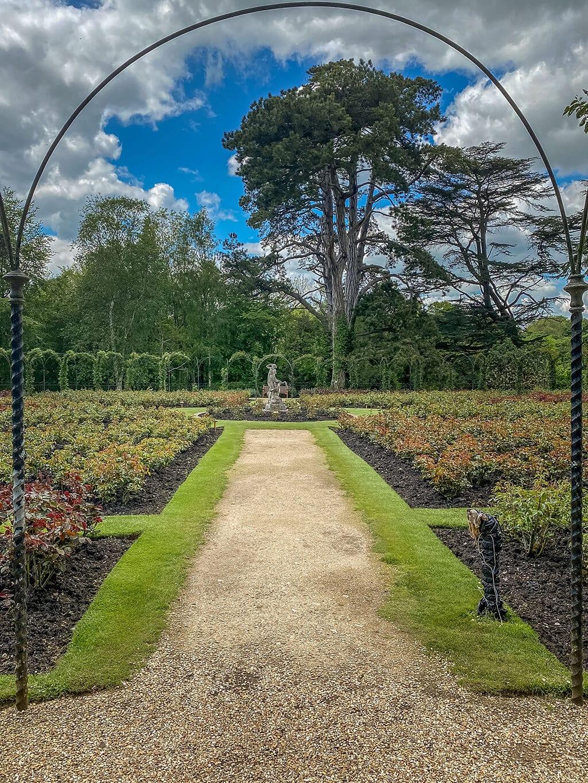 rose garden at blenheim palace