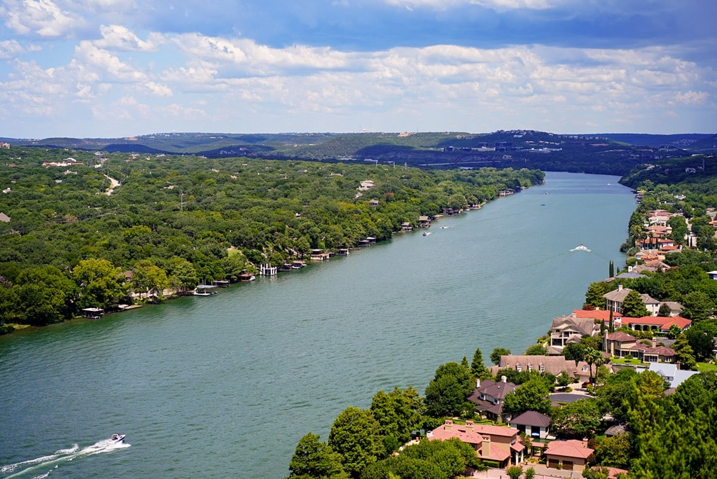 view from mount bonnell in austin texas