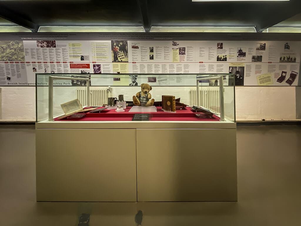 exhibit inside Block B at Bletchley Park