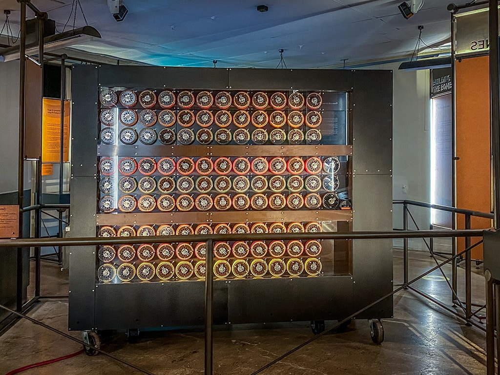 replica bombe in hut 11a at Bletchley park
