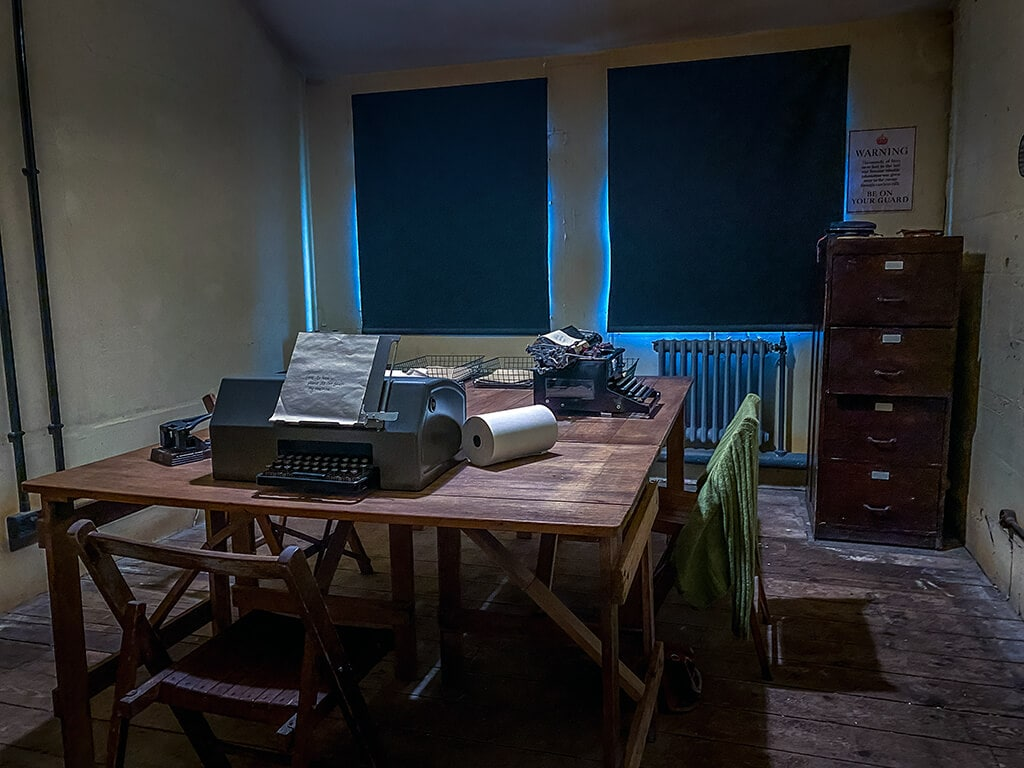 inside hut 6 at Bletchley park