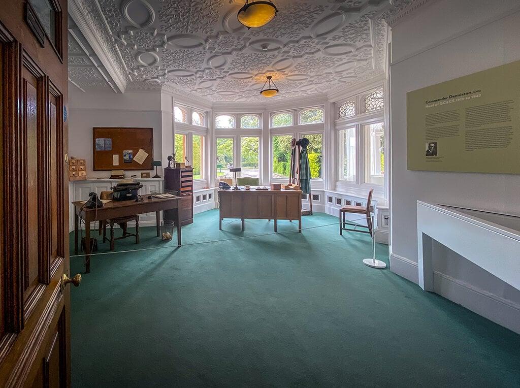 Commander Denniston's office inside the Bletchley Park Mansion