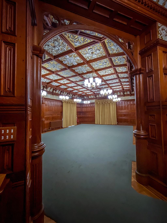 ballroom at the mansion at bletchley park