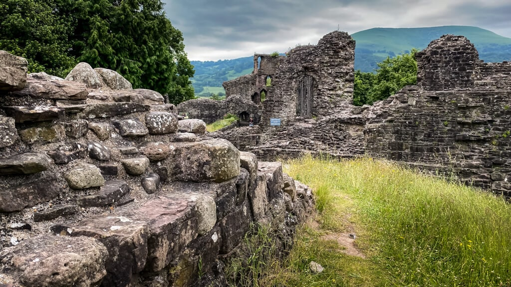 ruins of abergavenny castle in wales