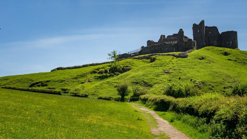 Carreg Cennen Castle in Brecon Beacons