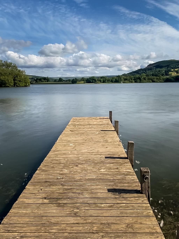 llangorse lake in the brecon beacons