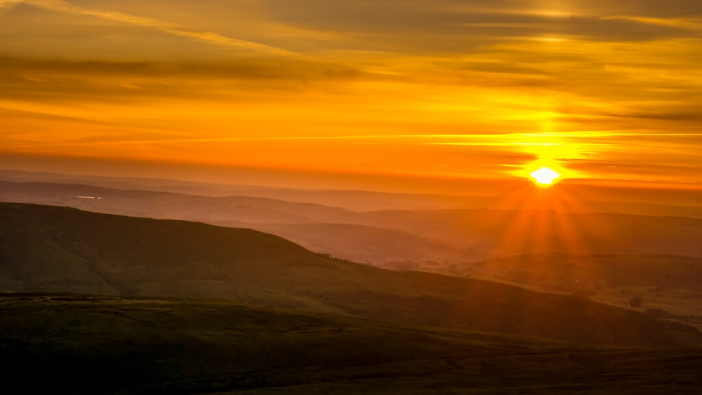sunset from the top of pen y fan